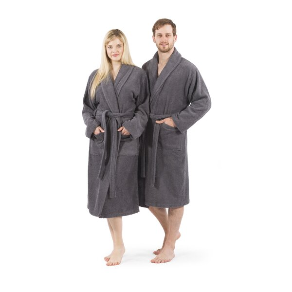 Cowling 100% Turkish Cotton Bathrobe by Red Barrel